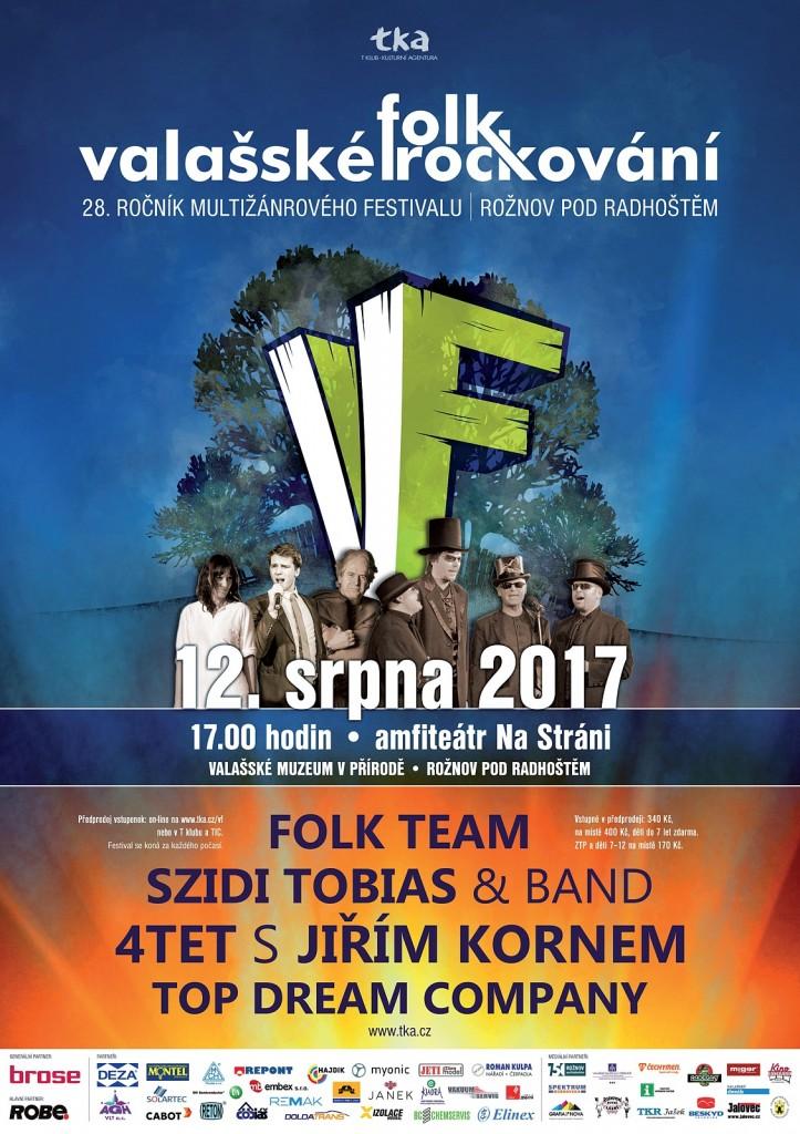 Valašské folkrockování 2017 - plakát